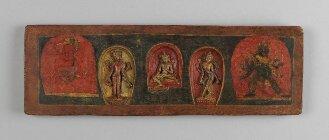 Tibetischer Buchdeckel (Unterdeckel) - BSB Cod.tibet. 147