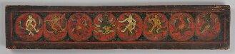 Tibetischer Buchdeckel (Oberdeckel) Bemalung auf beiden Seiten - Cod.tibet. 182(1