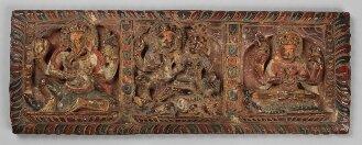 Nepalesischer Buchdeckel (Oberdeckel) zu einer hinduistischen Papierhandschrift - BSB Cod.nepal. 82(1