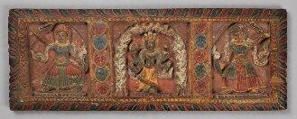 Nepalesischer Buchdeckel (Unterdeckel) zu einer hinduistischen Papierhandschrift - BSB Cod.nepal. 82(2