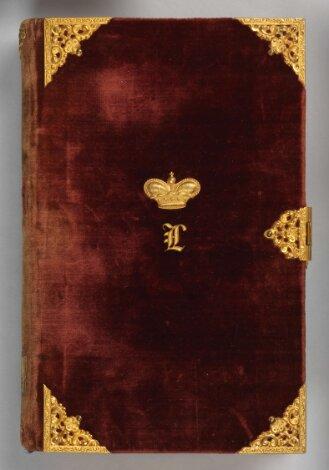 Luxuseinband zu: Concordance des écritures, des Pères et des conciles des cinq premiers siècles … - BSB ESlg/Polem. 3004 q#Einband