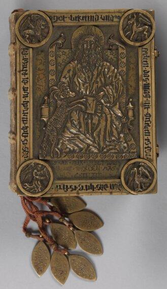 Messingeinband zu: Apokalypse und Franziskanerregel - BSB Cgm 111#Einband