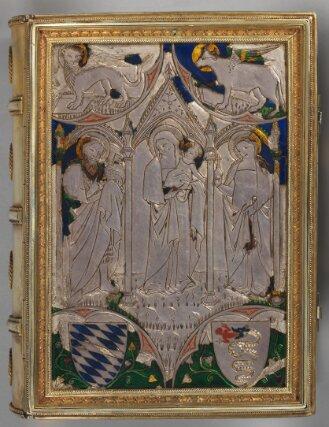 Silbereinband zum sog. Gebetbuch der Taddea Visconti - BSB Clm 6116#Einband