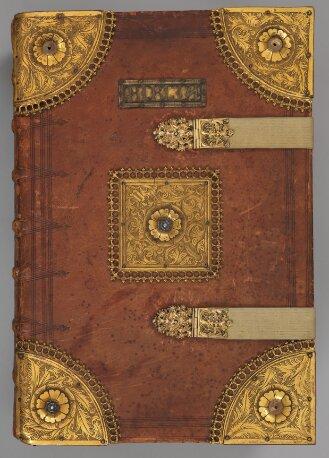 Luxuseinband zu: Biblia veteris et novi testamenti (Grillinger-Bibel) - BSB Clm 15701#Einband