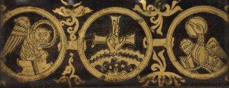 Braunfirnisplatten (Spolien) - BSB Clm 22021#Einband