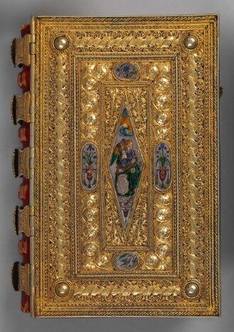 Goldschmiedeeinband zum Gebetbuch des Lorenzo de' Medici - BSB Clm 23639#Einband