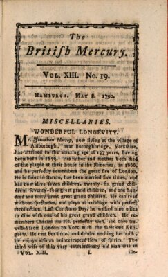 The British mercury or annals of history, politics, manners, literature, arts etc. of the British Empire Samstag 8. Mai 1790