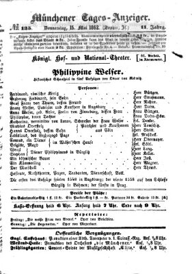 Münchener Tages-Anzeiger Donnerstag 15. Mai 1862