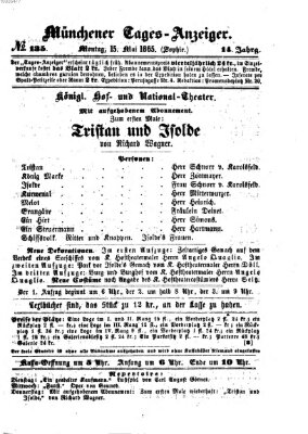 Münchener Tages-Anzeiger Montag 15. Mai 1865