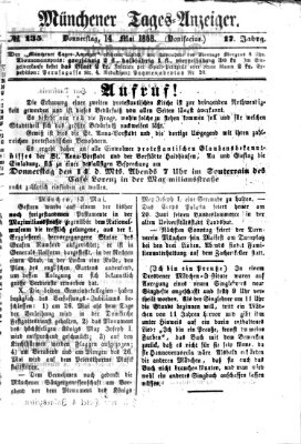 Münchener Tages-Anzeiger Donnerstag 14. Mai 1868