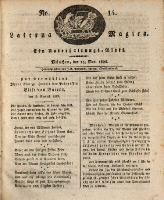 Laterna magica Samstag 15. November 1823