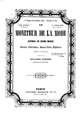 Le Moniteur de la mode Freitag 5. November 1852