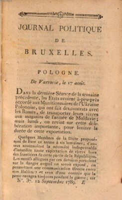 Mercure de France Samstag 12. September 1789