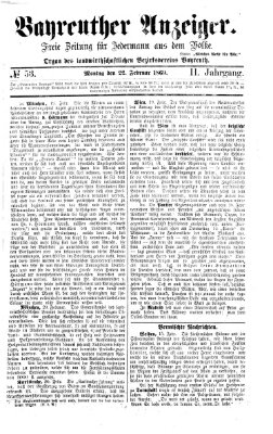 Bayreuther Anzeiger Montag 22. Februar 1869