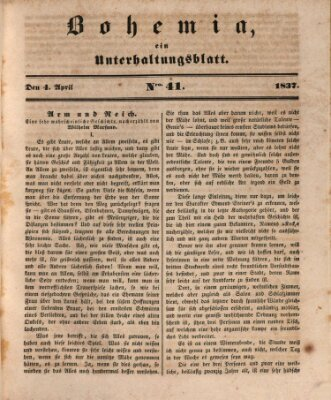 Bohemia Dienstag 4. April 1837