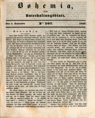 Bohemia Dienstag 5. September 1837