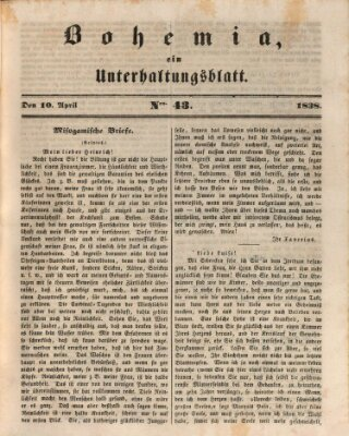 Bohemia Dienstag 10. April 1838