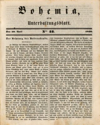 Bohemia Freitag 10. April 1840