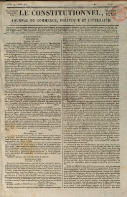 Le constitutionnel Montag 29. April 1822