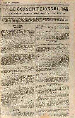 Le constitutionnel Sonntag 14. September 1823