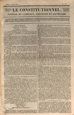 Le constitutionnel Donnerstag 1. April 1824