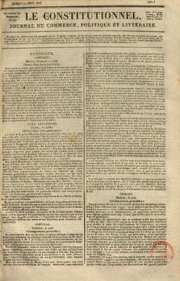 Le constitutionnel Samstag 20. August 1825