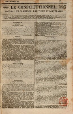 Le constitutionnel Donnerstag 8. September 1825