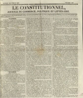 Le constitutionnel Montag 9. November 1829