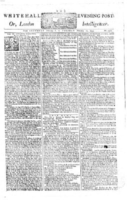 The Whitehall evening post or London intelligencer Dienstag 11. Februar 1755