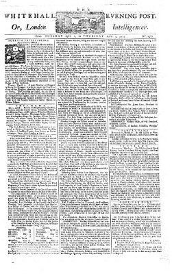 The Whitehall evening post or London intelligencer Donnerstag 3. April 1755