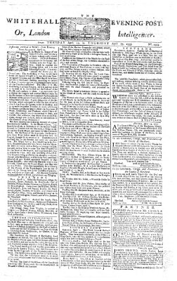 The Whitehall evening post or London intelligencer Dienstag 15. April 1755