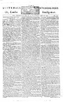 The Whitehall evening post or London intelligencer Donnerstag 24. April 1755