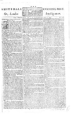 The Whitehall evening post or London intelligencer Donnerstag 5. Juni 1755