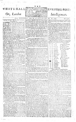 The Whitehall evening post or London intelligencer Freitag 25. Juli 1755