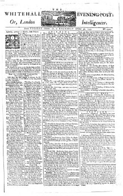 The Whitehall evening post or London intelligencer Donnerstag 30. Oktober 1755