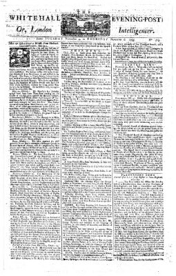 The Whitehall evening post or London intelligencer Donnerstag 6. November 1755