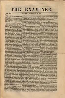 Examiner Samstag 17. September 1842