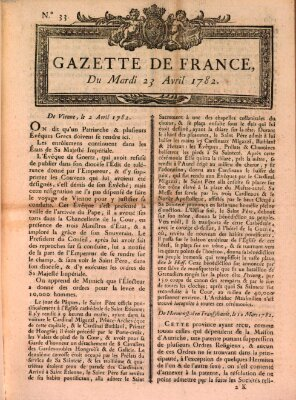 Gazette de France Dienstag 23. April 1782