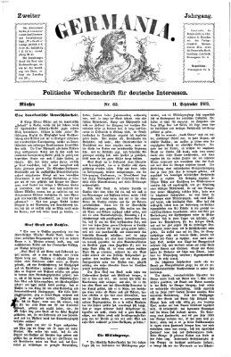 Germania Samstag 11. September 1869