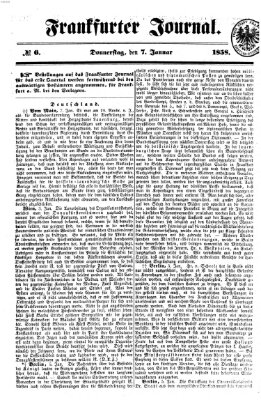 Frankfurter Journal Donnerstag 7. Januar 1858