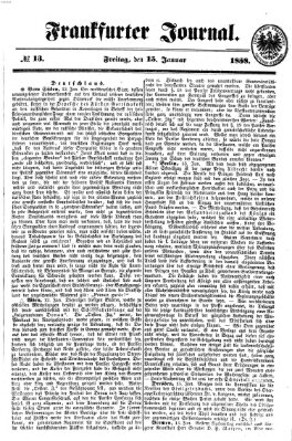 Frankfurter Journal Freitag 15. Januar 1858