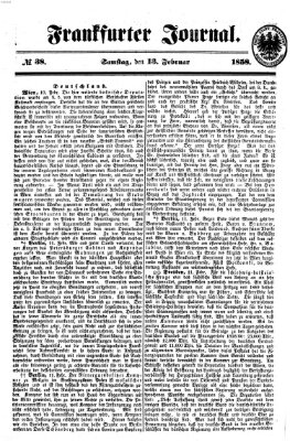 Frankfurter Journal Samstag 13. Februar 1858