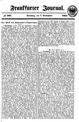 Frankfurter Journal Sonntag 7. November 1858