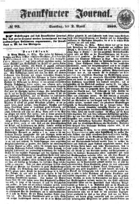Frankfurter Journal Samstag 2. April 1859