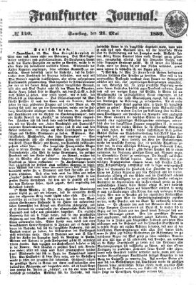 Frankfurter Journal Samstag 21. Mai 1859