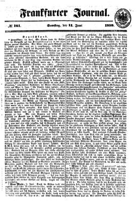 Frankfurter Journal Samstag 11. Juni 1859