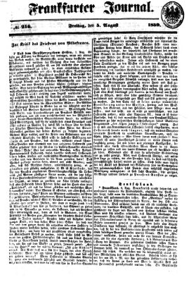 Frankfurter Journal Freitag 5. August 1859
