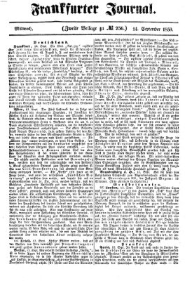 Frankfurter Journal Mittwoch 14. September 1859