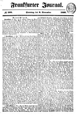 Frankfurter Journal Sonntag 6. November 1859