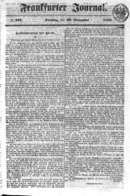 Frankfurter Journal Dienstag 29. November 1859